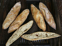 Breads baked in the traditional way Royalty Free Stock Photography