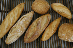 Breads baked in the traditional way Royalty Free Stock Image