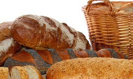 Breads in bakery Stock Images