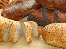 Breads in bakery Royalty Free Stock Photo