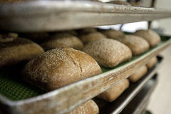 Breads on the bakery oven Stock Photo