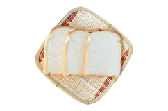 Breads in bamboo basket Royalty Free Stock Photos
