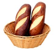 Breads in basket Royalty Free Stock Photos