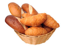 Breads in basket Stock Photos