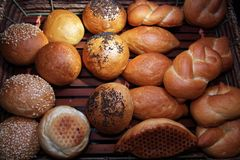 Breads in basket Royalty Free Stock Photography
