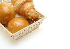 Breads in the basket Royalty Free Stock Image