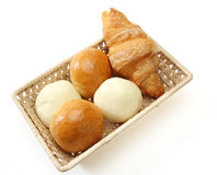 Breads in a basket Stock Photography