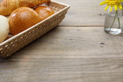Breads in a basket Royalty Free Stock Photography