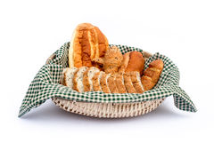 Breads in basket Stock Photography