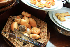 Breads at buffet Stock Image