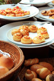 Breads at buffet. Photograph of breads at buffet Stock Photography