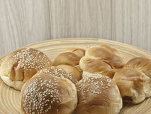 Breads and coffee cup Stock Images
