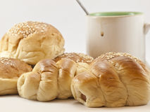 Breads and coffee cup Royalty Free Stock Image