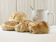 Breads and coffee cup Stock Photo