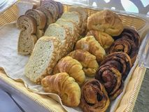 Breads, croissant, bread chocolate Royalty Free Stock Image