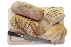 Breads On Cutting Board Stock Photography