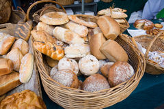 Breads on display Royalty Free Stock Photo