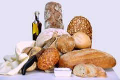 Breads display Royalty Free Stock Photography