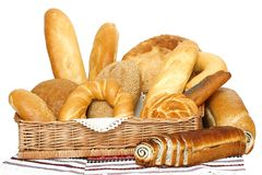 Breads and loafs stock image