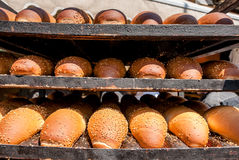 Breads at Mechane Yehuda market, Jerusalem, Israel Stock Photo