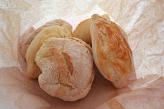 Breads in a paper bag Royalty Free Stock Photo