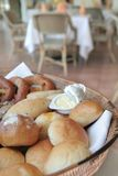 Breads at restaurant Royalty Free Stock Images