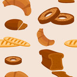 Breads Seamless Pattern Royalty Free Stock Photos