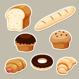 Breads set Stock Photo