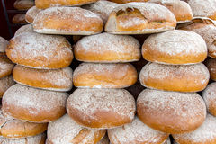 Breads stack Royalty Free Stock Photography