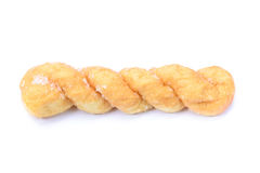 Breads twists donut,  on white background Stock Photo