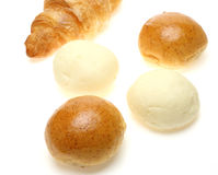 Breads in a white background Stock Photography