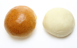 Breads in a white background Stock Images