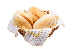 Breads in wicker Royalty Free Stock Photos
