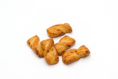Breadsticks που απομονώνονται τριζάτα Στοκ Φωτογραφίες
