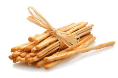 Ραβδιά ψωμιού στο λευκό στοκ εικόνα με δικαίωμα ελεύθερης χρήσης