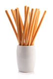 Breadsticks σε ένα γυαλί Στοκ φωτογραφίες με δικαίωμα ελεύθερης χρήσης