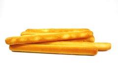 Breadsticks de oro Imágenes de archivo libres de regalías