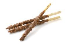 Breadsticks del chocolate y de la nuez Imagen de archivo libre de regalías