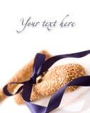 Breadsticks die met lint wordt gebonden Royalty-vrije Stock Afbeelding