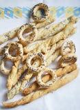 Breadsticks e cracknels fotos de stock royalty free