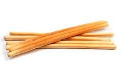 Breadsticks en el fondo blanco Imagen de archivo
