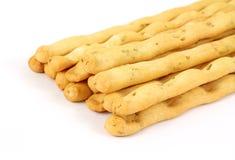 Breadsticks faisants le coin de vue sous un angle Photos stock