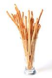 Breadsticks in glass Stock Image