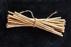 Breadsticks grissini torinesi Royalty Free Stock Photos