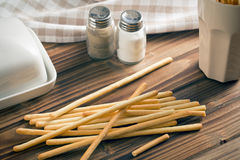 Breadsticks grissini Stock Photos