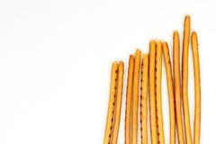 Breadsticks odizolowywający na bielu Zdjęcie Stock