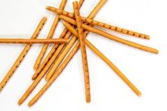 Breadsticks odizolowywający na bielu Fotografia Stock