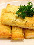 breadsticks with parsley Stock Photography
