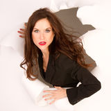 Fashionable Business Woman Break Through royalty free stock images