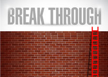 Break through brick wall illustration design Royalty Free Stock Images